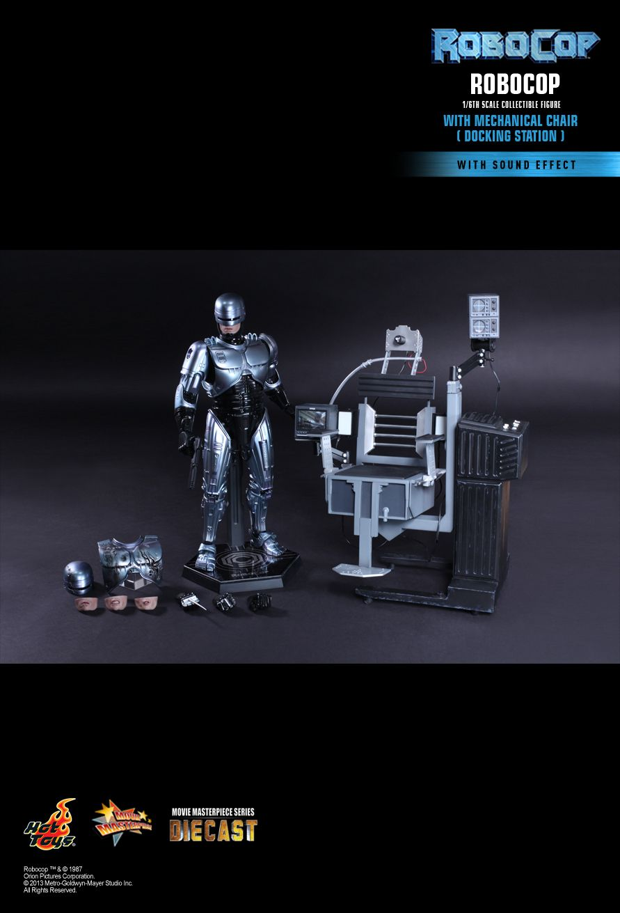 JualHotToys.com Toko JUAL HOT TOYS ROBOCOP with Mechanical Chair Diecast MMS203D05 1/6 Movie Action Figure Harga Murah - MISB Produk Distributor Resmi Jakarta Indonesia