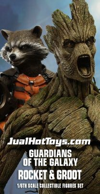 JualHotToys.com Toko JUAL HOT TOYS Guardians Of The Galaxy ROCKET and GROOT MMS254 1/6 Movie Action Figure Harga Murah - MISB Produk Distributor Resmi Jakarta Indonesia