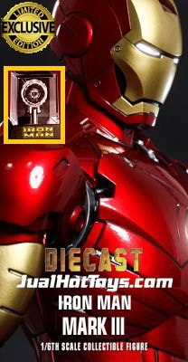JualHotToys.com Toko JUAL HOT TOYS IRON MAN MARK III 3 Special Edition Diecast MMS256 1/6 Movie Action Figure Harga Murah - MISB Produk Distributor Resmi Jakarta Indonesia
