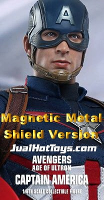 JualHotToys.com Toko HOT TOYS Captain America Magnetic Shield MMS281 Avengers Age of Ultron 1/6 Movie Action Figure Harga Murah - MISB Produk Distributor Resmi Jakarta Indonesia