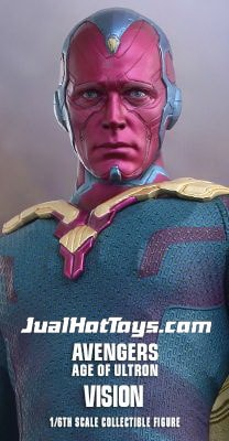 JualHotToys.com Toko HOT TOYS VISION Avengers Age Of Ultron MMS296 1/6 Movie Action Figure Harga Murah - MISB Produk Distributor Resmi Jakarta Indonesia
