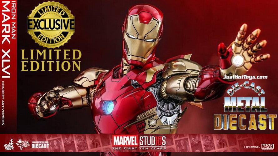 JualHotToys.com Toko HOT TOYS Iron Man Mark XLVI Concept Art Version MMS489D25 1/6 Movie Action Figure Harga Murah - MISB Produk Distributor Resmi Jakarta Indonesia