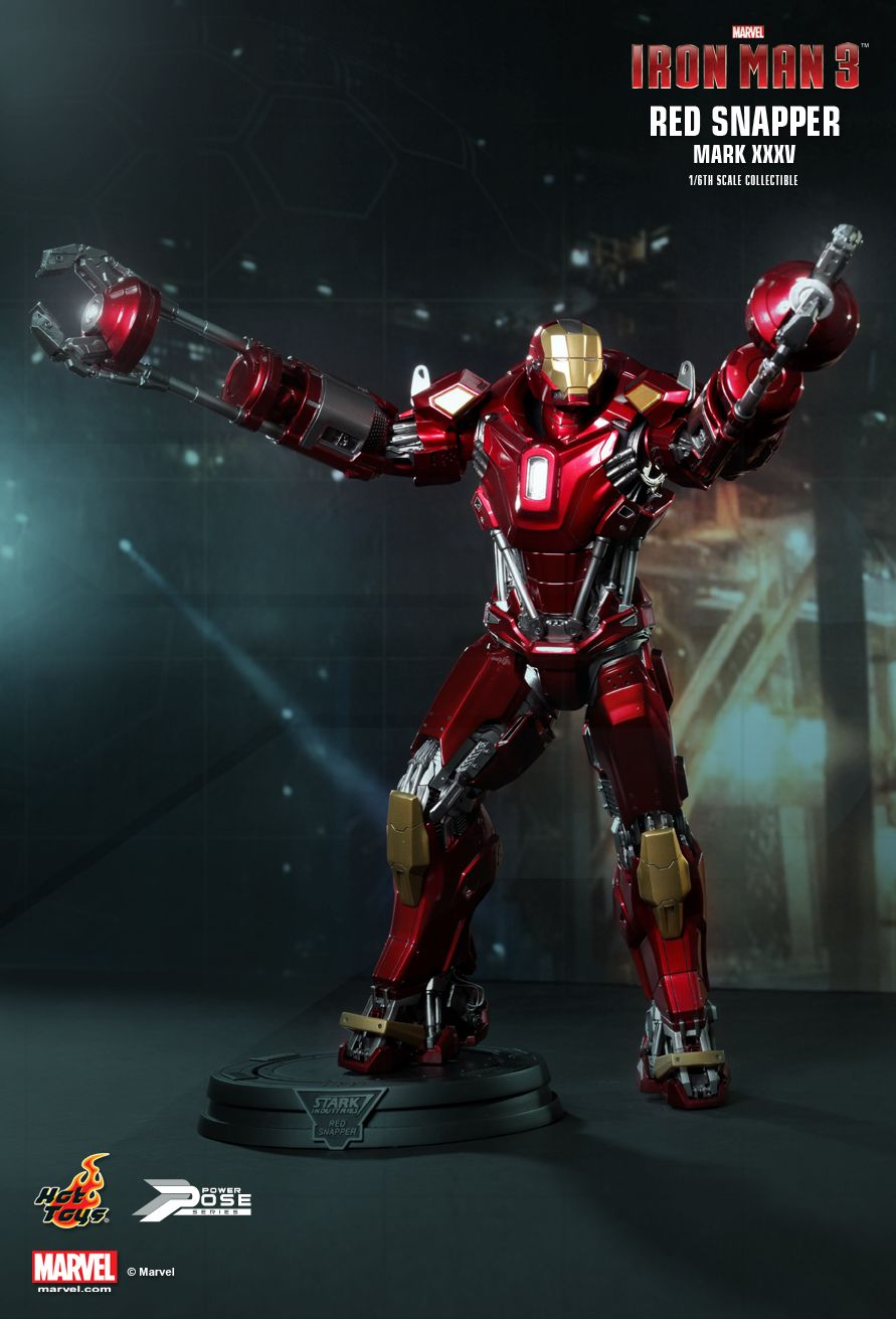 JualHotToys.com Toko JUAL HOT TOYS IRON MAN RED SNAPPER Mark XXXV 35 PPS002 1/6 Movie Action Figure Harga Murah - MISB Produk Distributor Resmi Jakarta Indonesia
